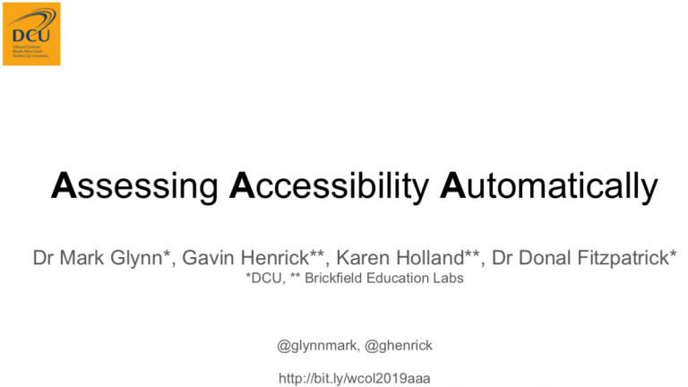 main slide of the aaa presentation
