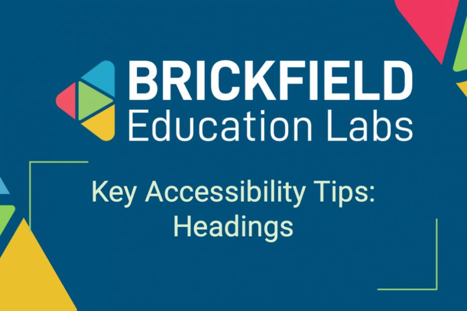 Brickfield Education Labs Thumbnail Headings Tips