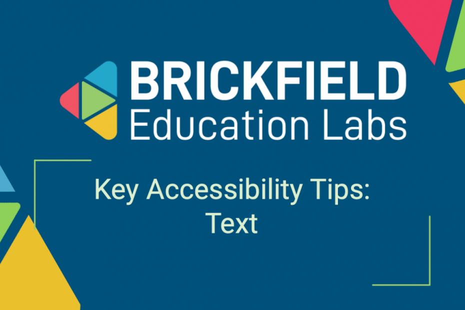 Brickfield Education Labs, Thumbnail, Text tips