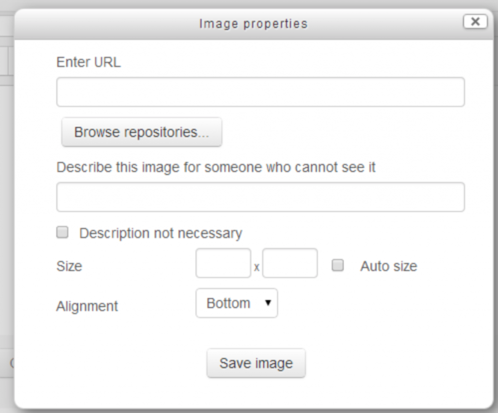 Moodle 3.8 version insert image text box in atto