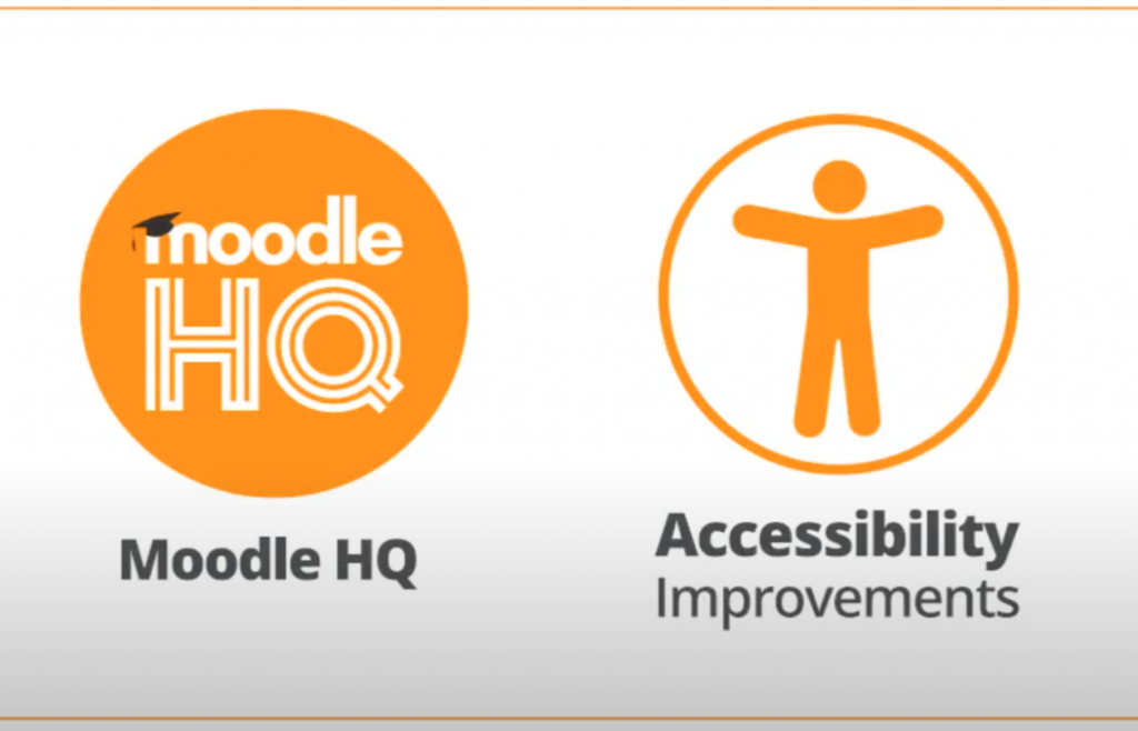 Graphic of Moodle HQ and it's Accessibility Improvements