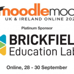Graphic from Moodlemoot UK & Ireland which welcomed Brickfield Education Labs as a platinum sponsor