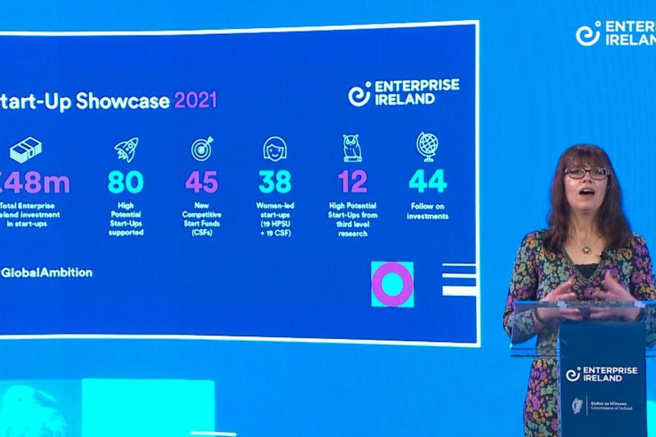 Live Action Screenshot from Enterprise Ireland Start-up Showcase 2020