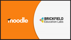 Brickfield Education Labs partnering with Moodle logo graphic